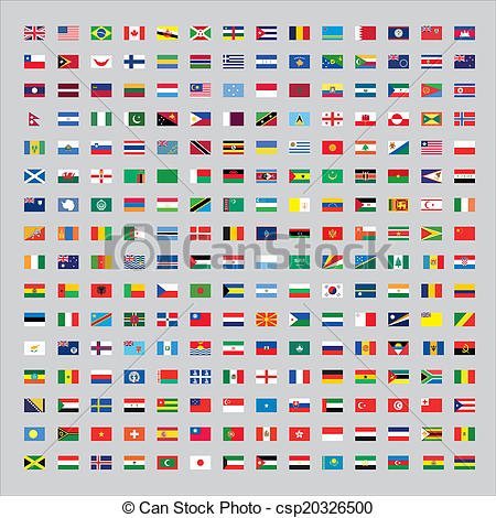 450x470 Flags Of The World Stock Illustration