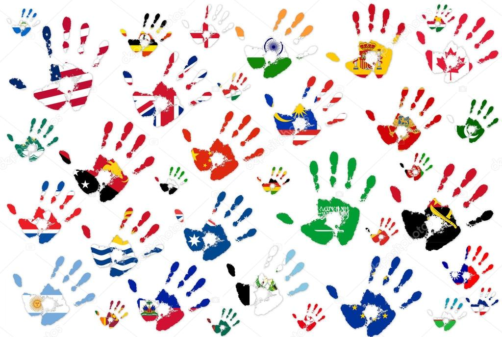1024x687 Hand World Flags Stock Photo Magagraphics