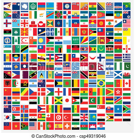 450x451 Square Shaped Illustrated Flags Of The World Drawing