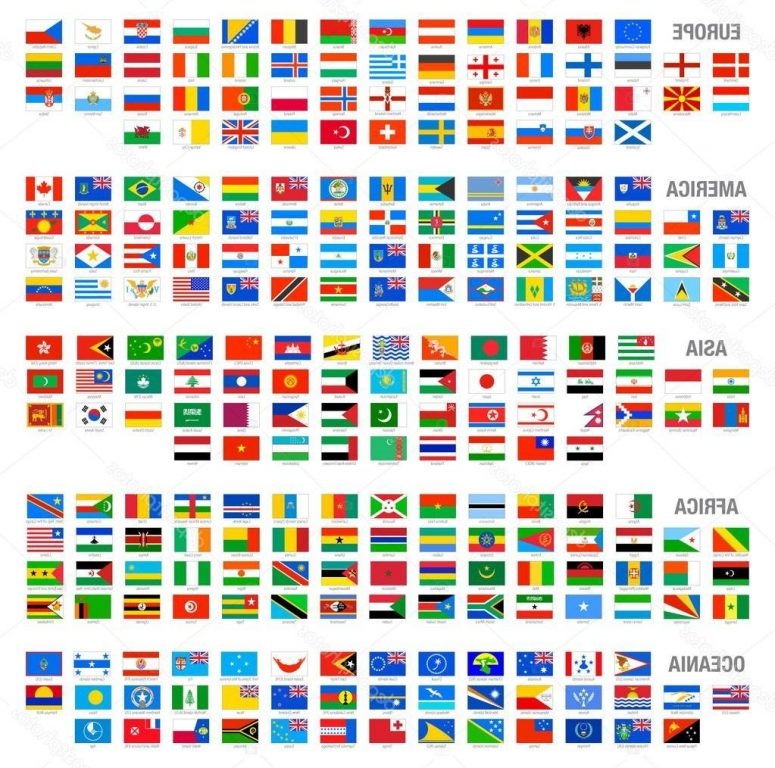 775x768 Unique Country Flags Vector Drawing Clip Art Designs, Vectors