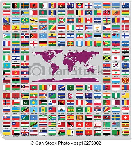 426x470 Updated And Official Country Flags Around The World In Vector