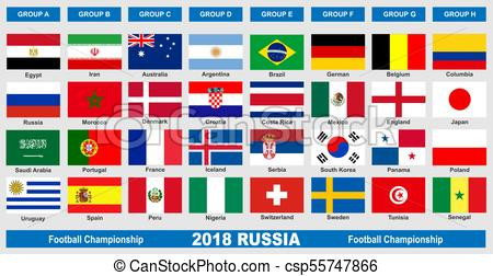 450x252 World Football Championship 2018 Flags. World Cup Football Clip
