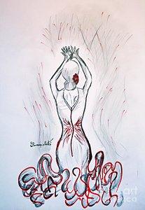 207x300 Flamenco Dancer Drawings Fine Art America