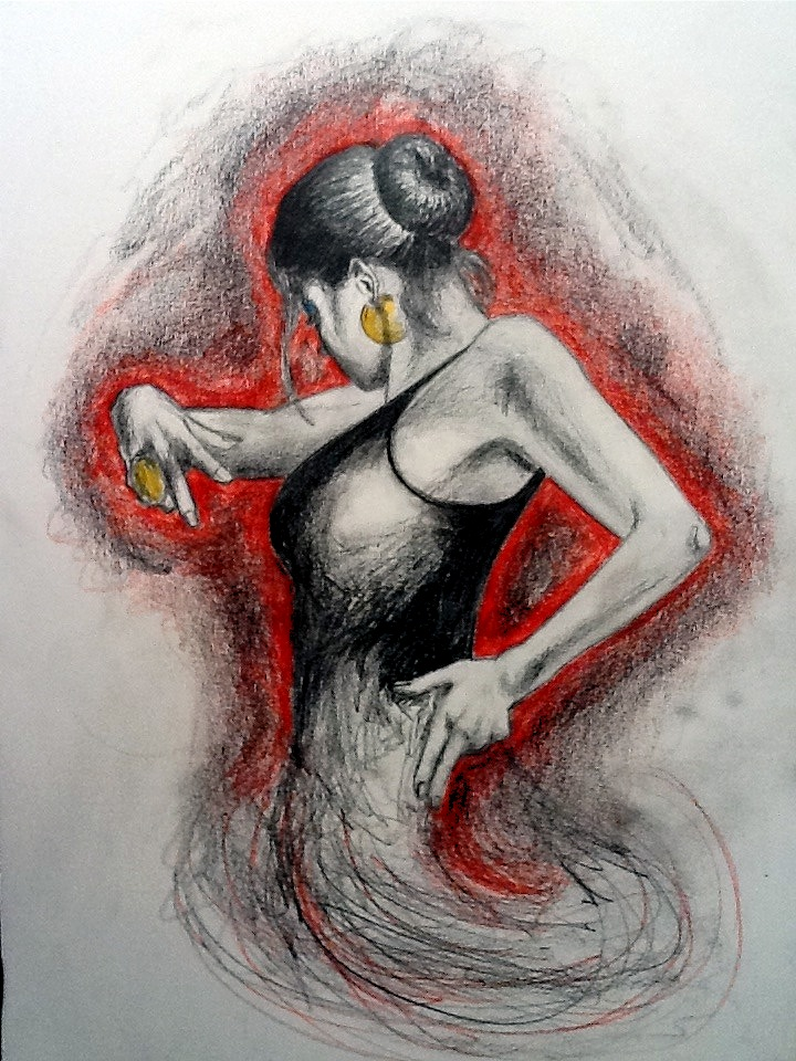 720x960 Flamenco Dancer By Scoteyeart