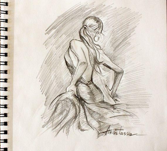 570x514 Passionate Flamenco Dancer Drawing Sketch By Anastassiaorehova