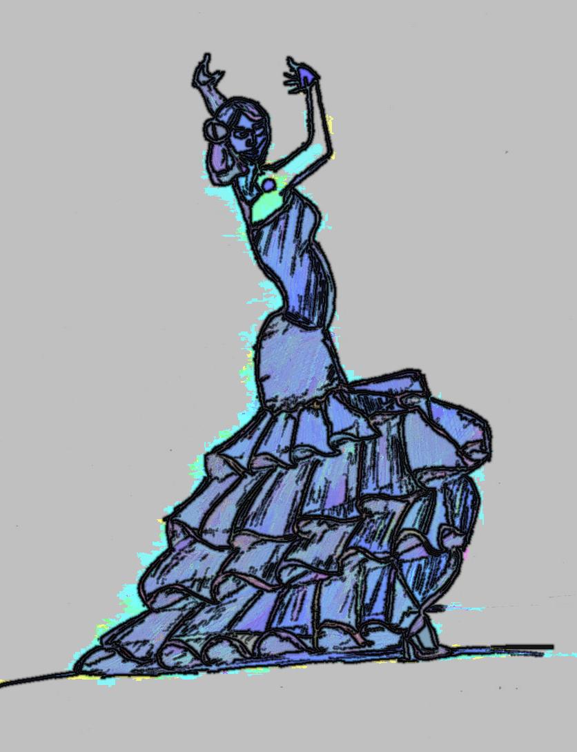 836x1089 Spanish Flamenco Dancer Learning To Draw