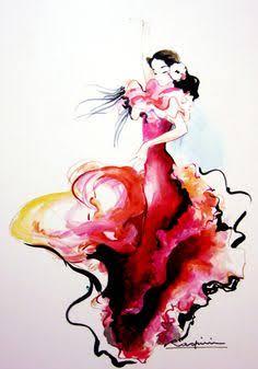 236x337 Draw Flamenco Dancer