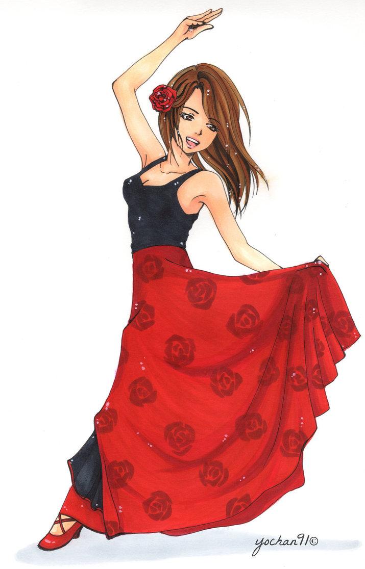 715x1116 Flamenco Dancer By Yochan91