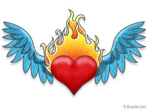 Flaming Heart Drawing at GetDrawings.com | Free for ...