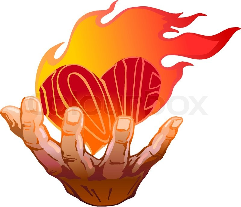Flaming Heart Drawing At Getdrawings Free For Personal Use