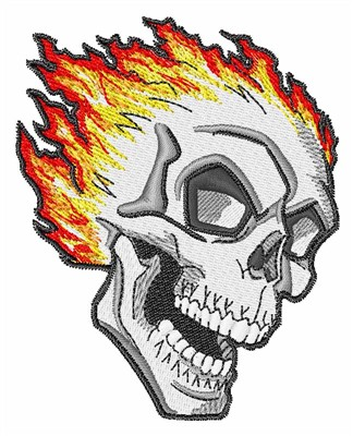 324x400 Flaming Skull Embroidery Design Annthegran