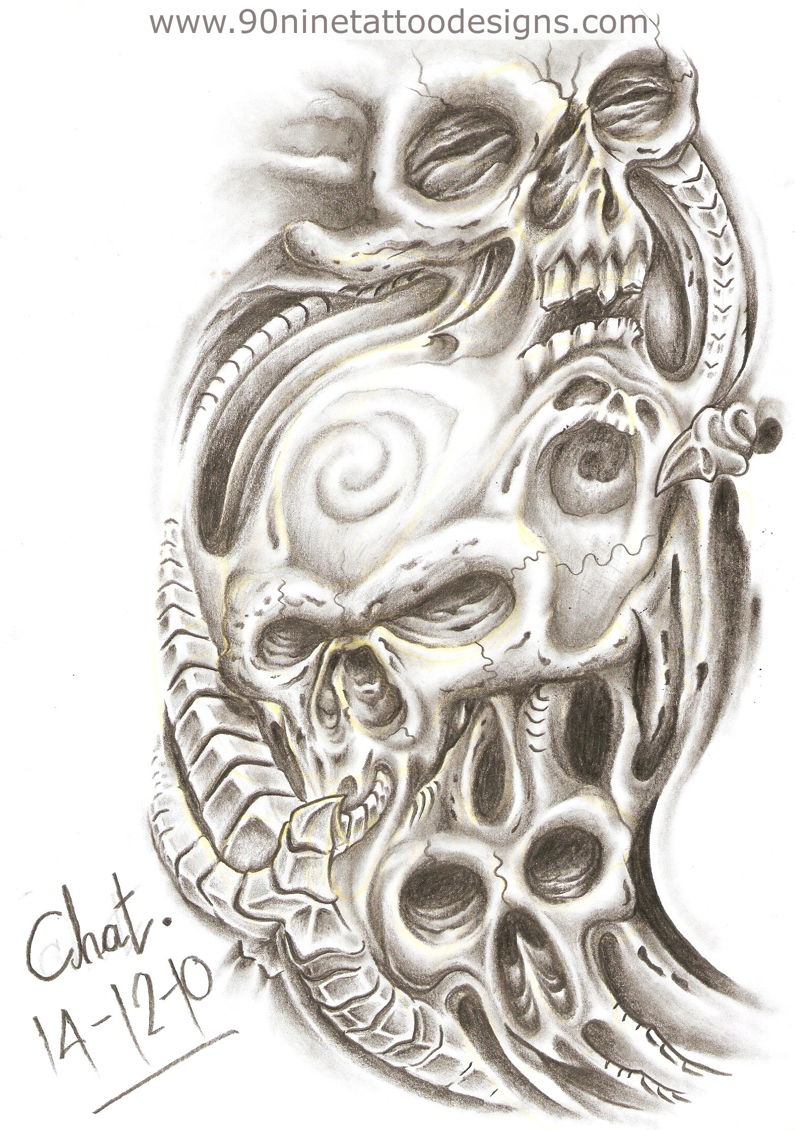 1566x2226 Collection Of Flaming Clown Skull Tattoo Design
