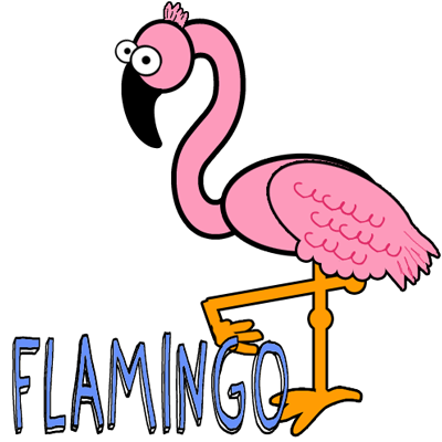 400x400 How To Draw Cartoon Pink Flamingos In Easy Steps Lesson Pink