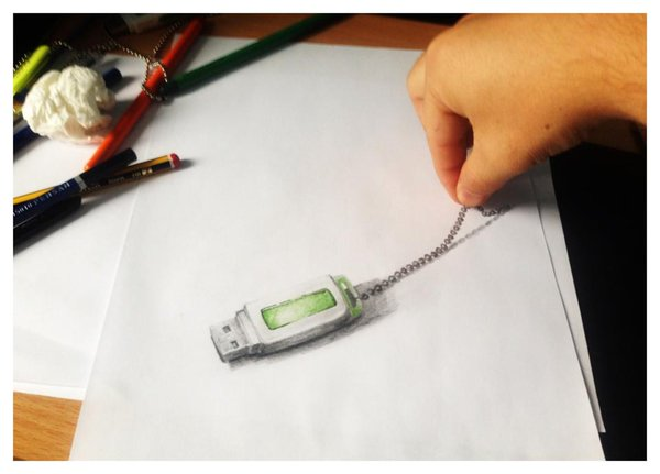 600x431 Usb Flash Drive 3d Drawing By Snake Silent