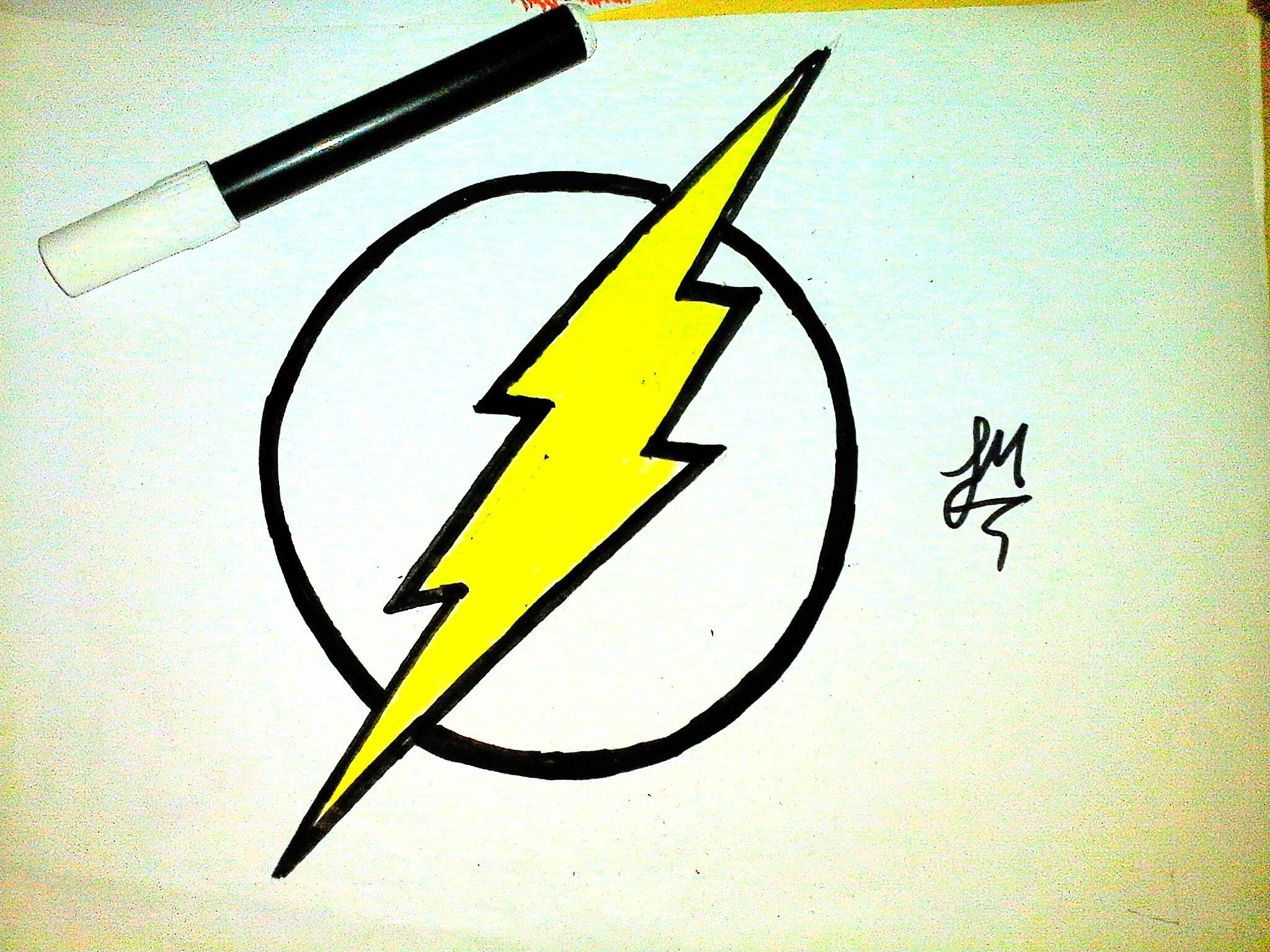 2048x1536 Como Desenhar A Logo Do Flash [How To Draw Flash