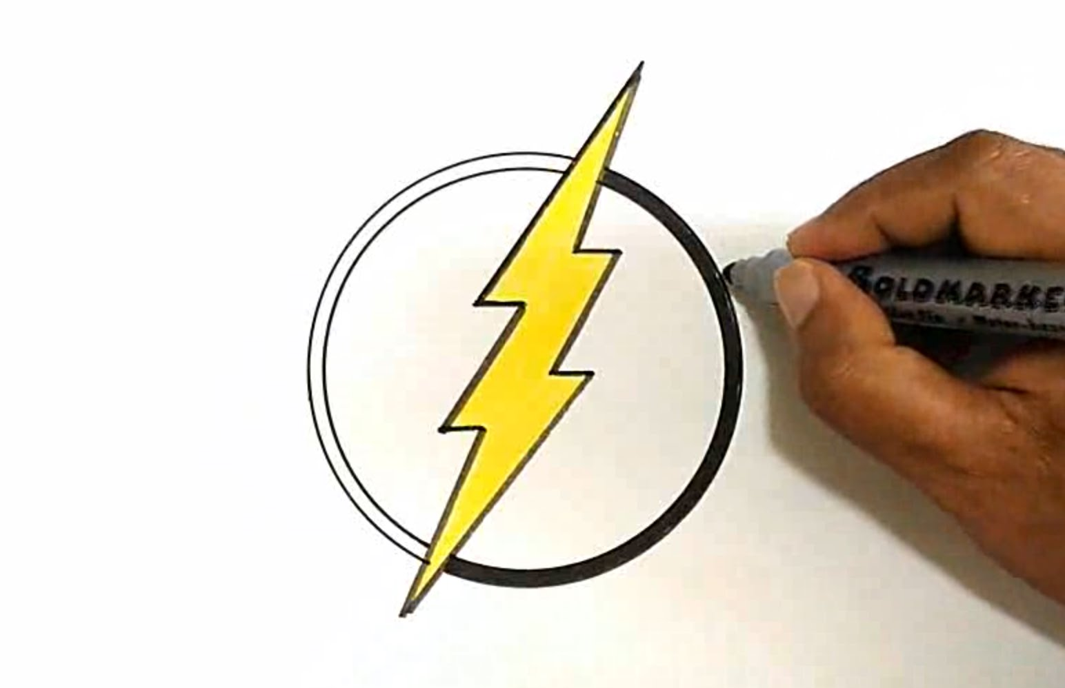 1544x998 How To Draw The Flash Logo