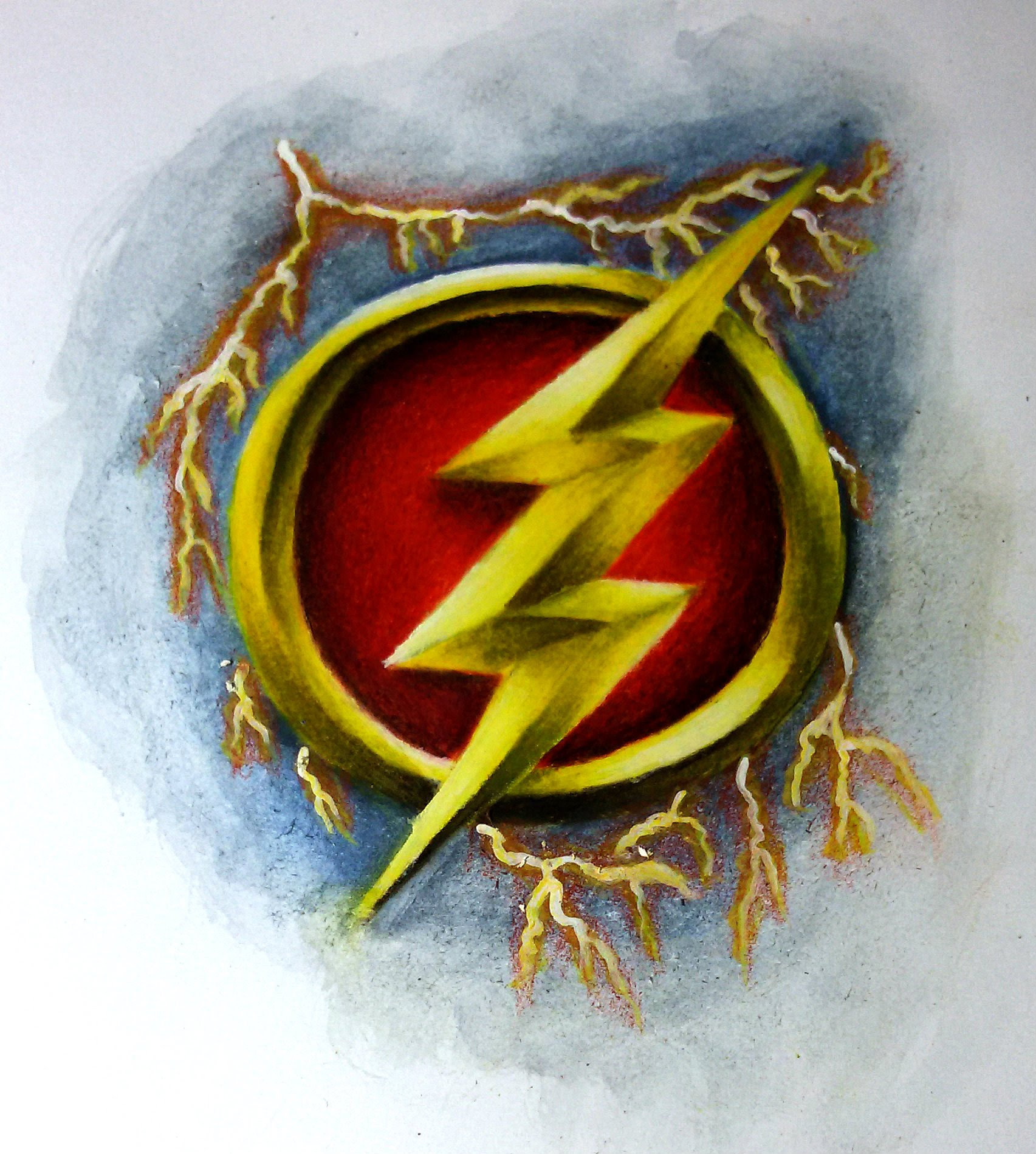 1705x1899 Speed Drawing Of The Flash Logo
