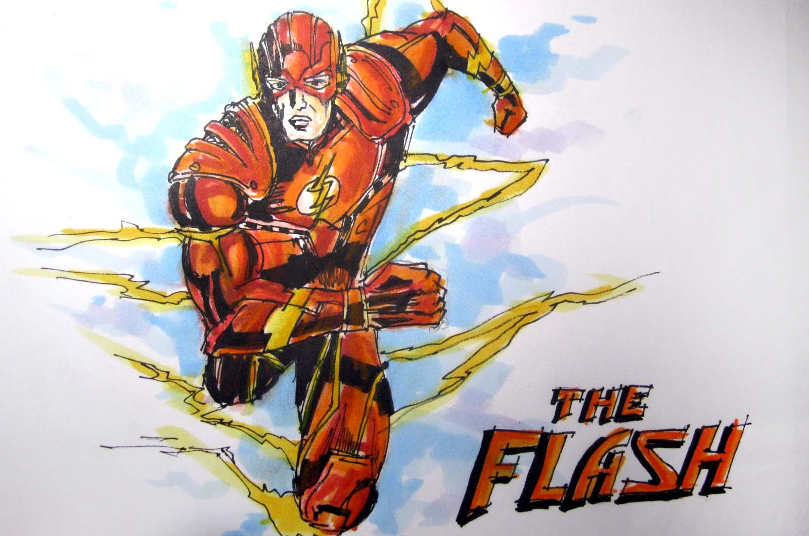1600x1061 Dcmarvel Comics Series The Flash Time Lapse Drawing