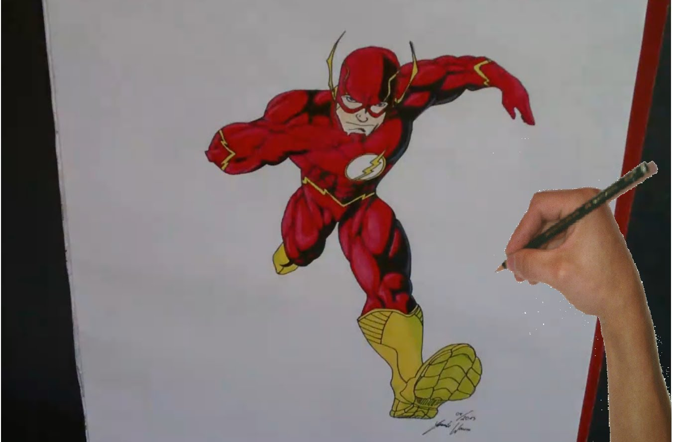1352x888 Speed Drawing The Flash