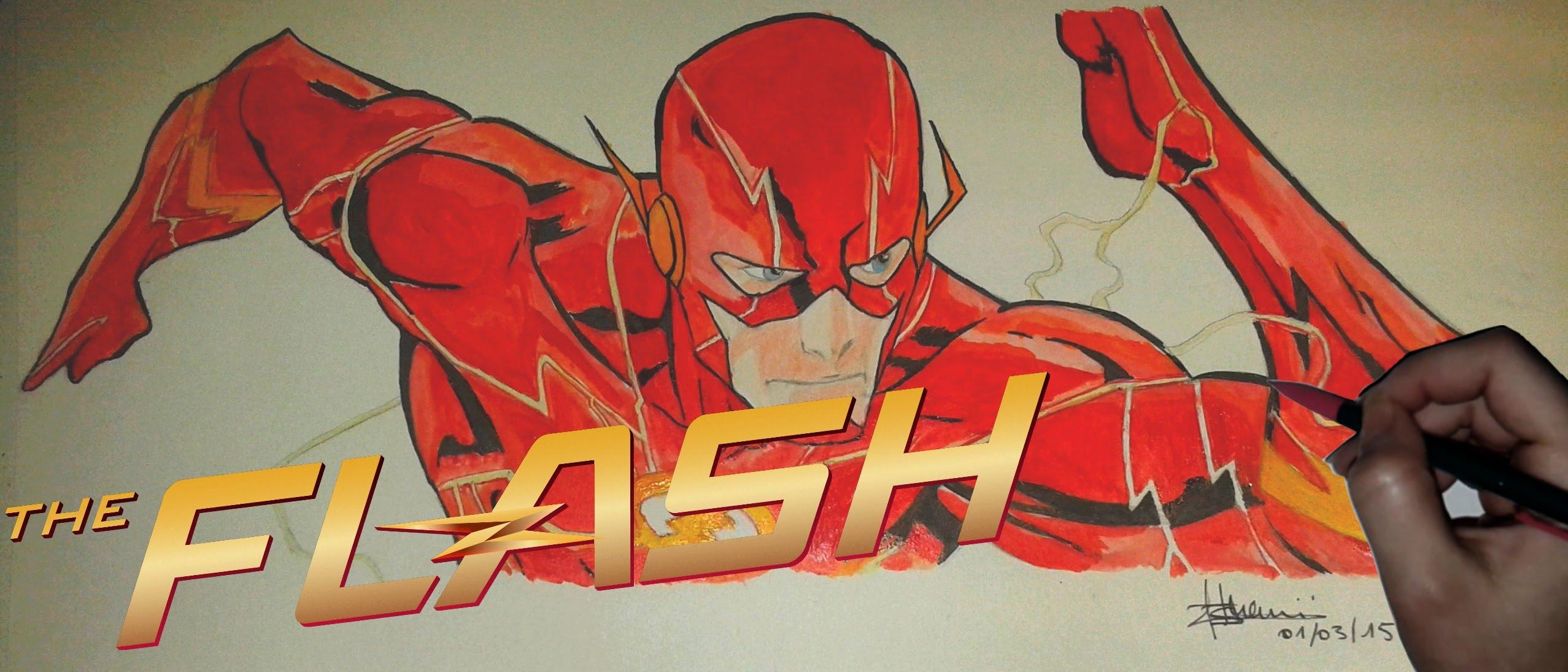 2555x1095 Speed Painting Barry Allenthe Flash (Dc Comics)