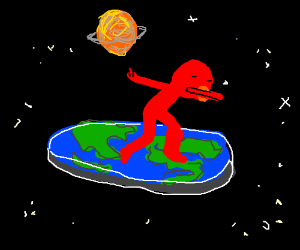 300x250 Elmo Dabs On The Top Of Flat Earth