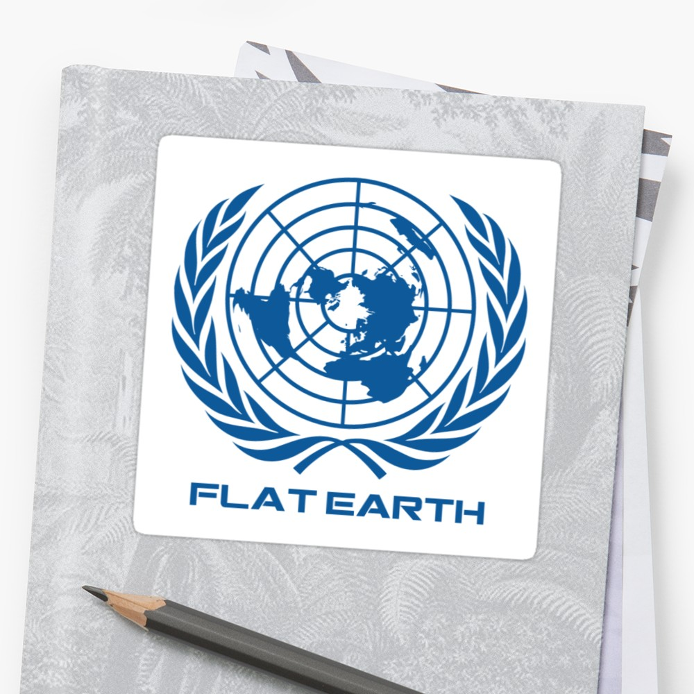 1000x1000 Flat Earth Map Logo Stickers By Flatearth1111 Redbubble