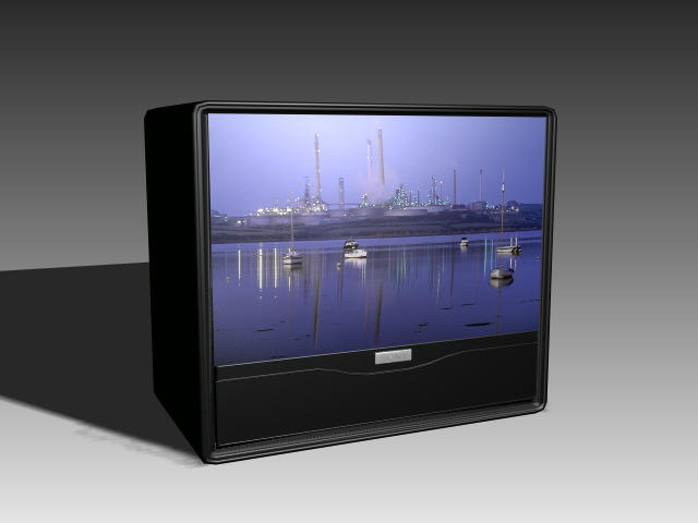 640x480 Flat Crt Tv 3d Model 3d Studio,3ds Max,autocad Drawing Files Free