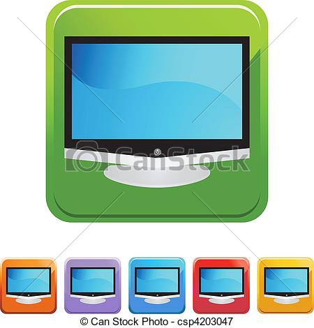 450x470 Flat Screen Tv Vectors Illustration