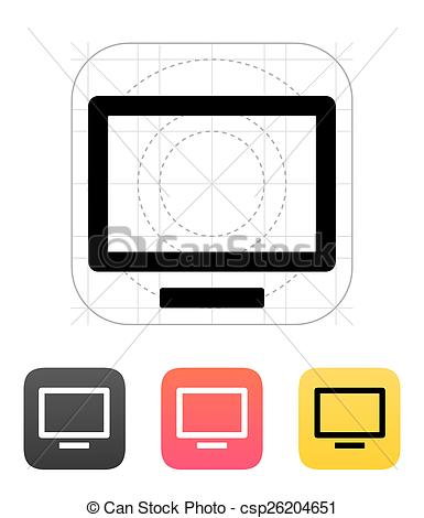 385x470 Flatscreen Tv Icon. Flatscreen Tv Icon Clipart Vector