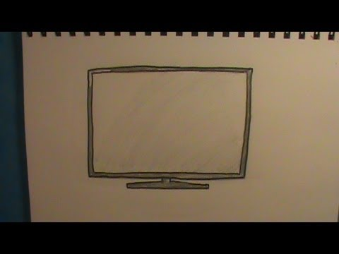 480x360 How To Draw A Tv Flat Screen Tv Hdtv
