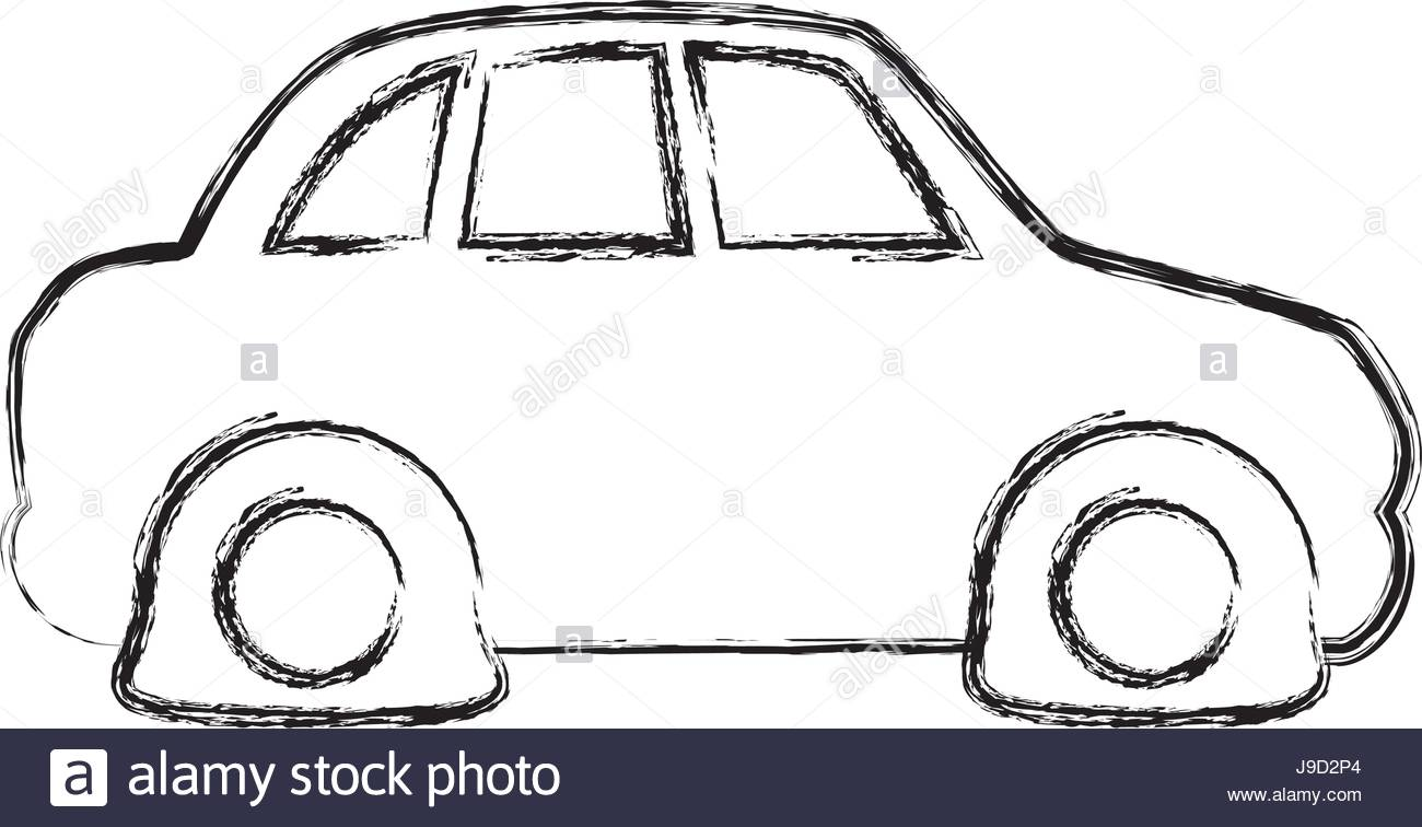 1300x756 Figure Flat Tire Car To Drive And Travel Stock Vector Art