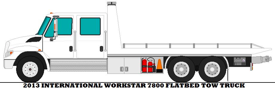 920x300 2013 International Workstar 7800 Flatbed Tow Truck By Mcspyder1
