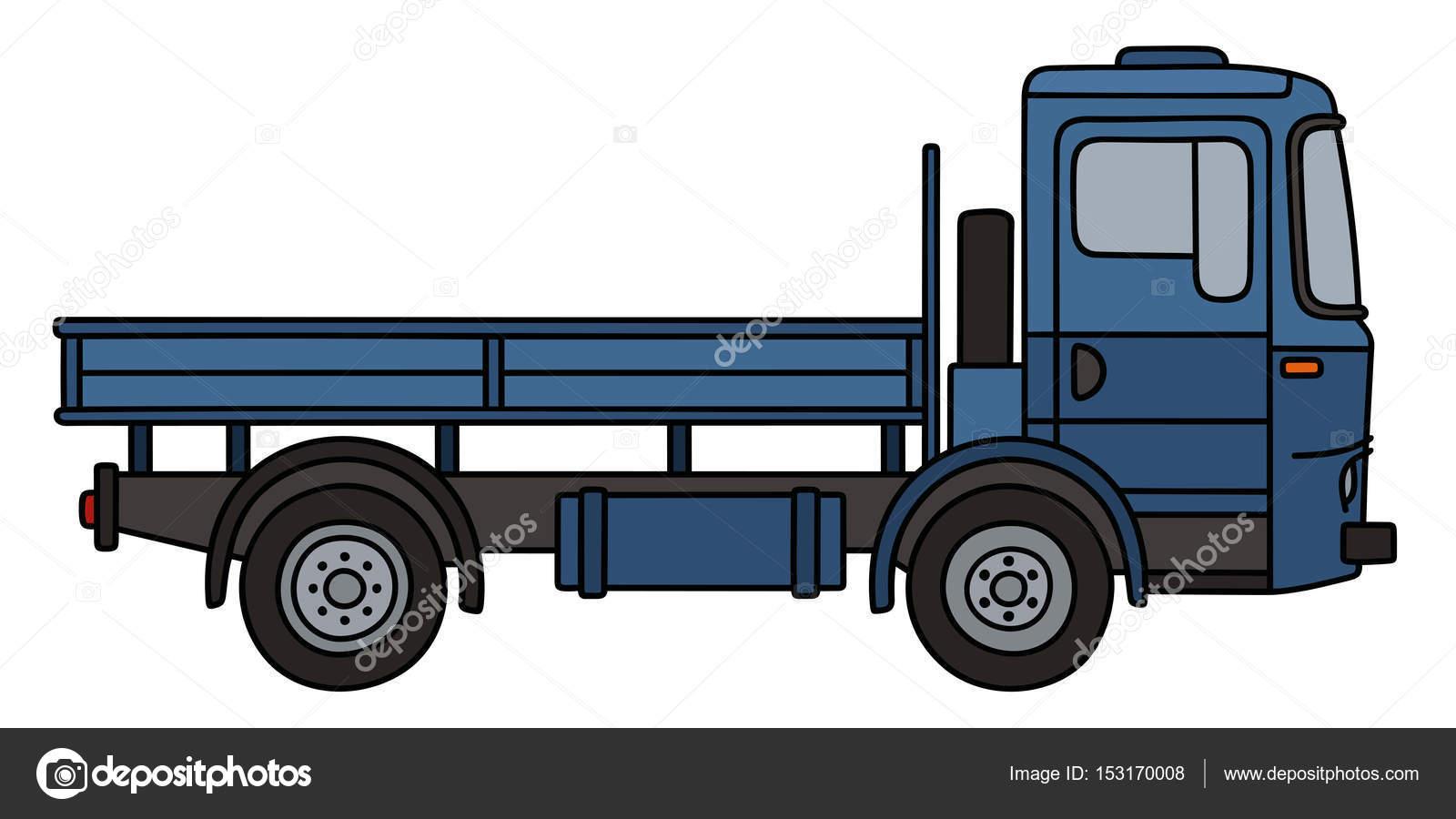 1600x900 Blue Flatbed Truck Stock Vector 2v