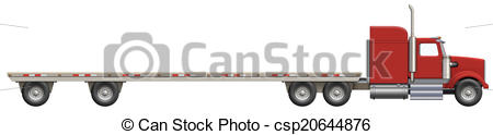 450x124 Illustration Of A Flatbed Truck. The Bed Is Empty And Ready