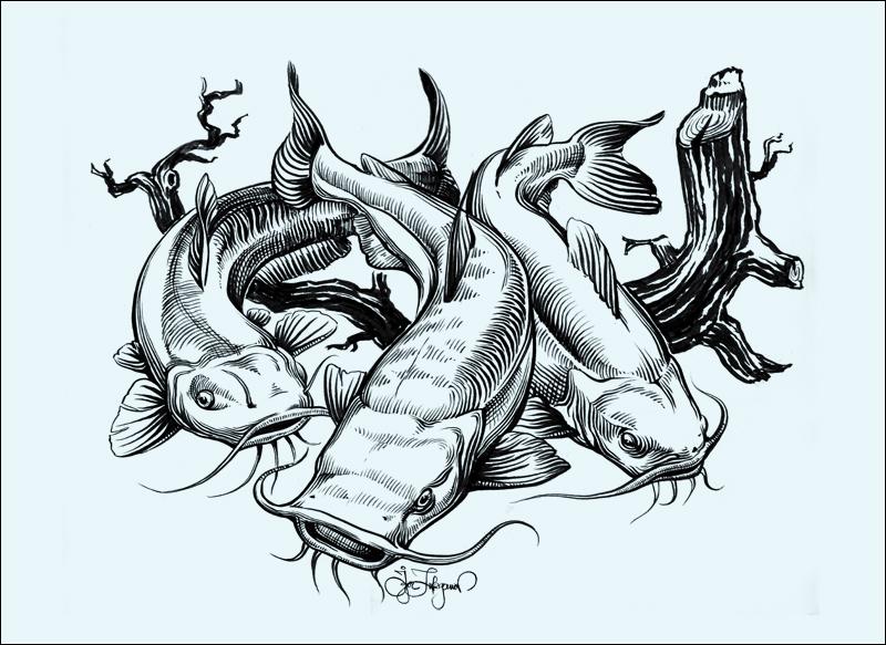 Flathead Catfish Tattoo