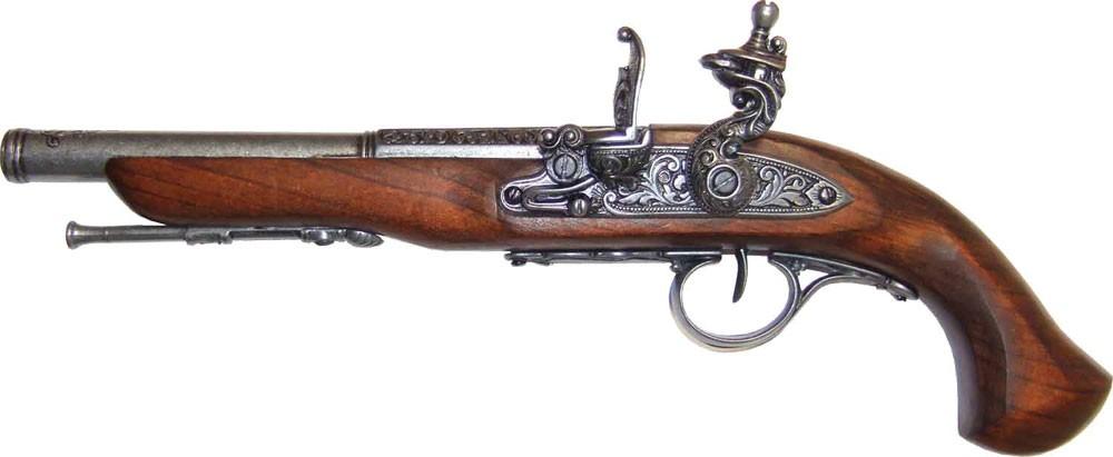 1000x411 Denix Denix Left Handed English Flintlock Pistol Replica