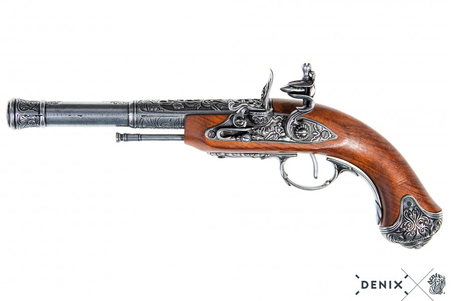 900x600 Flintlock Pistol (Left Handed), India 18th. C.