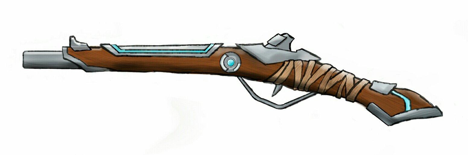 1551x515 Futuristic Flintlock Pistol By Tyleryates