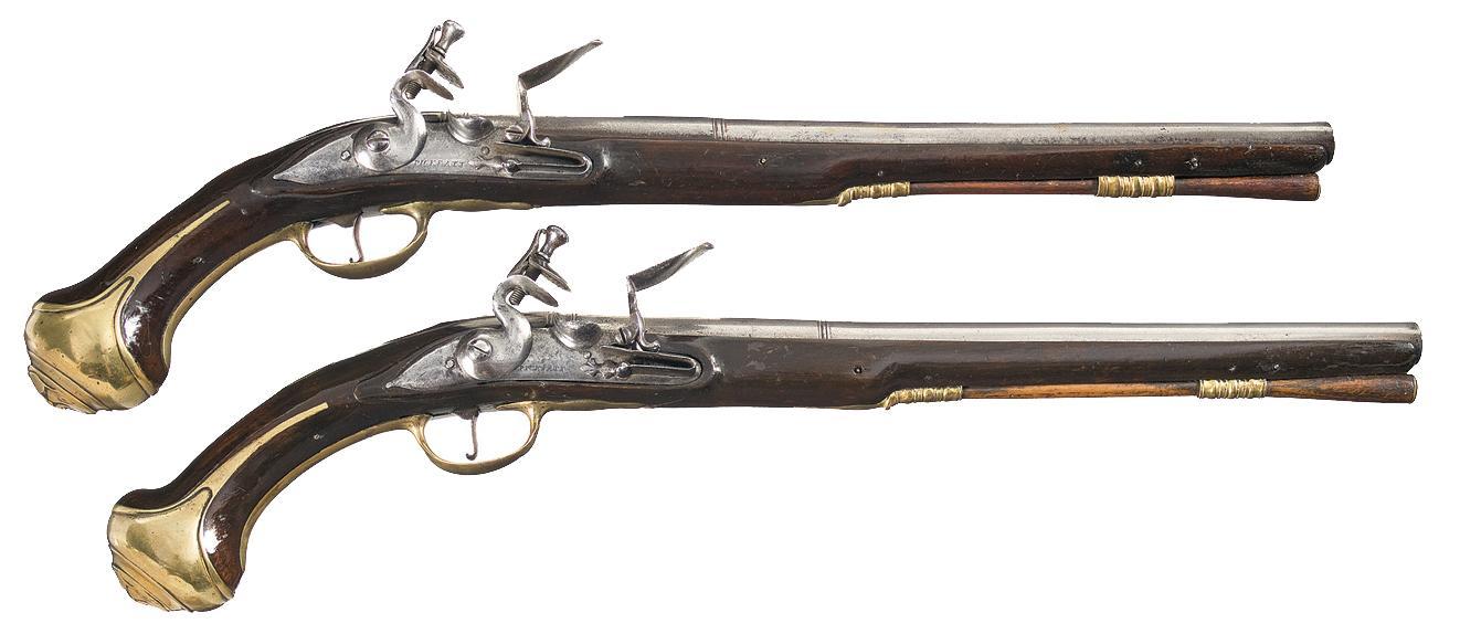 1322x574 Pair Of English Pickfatt Marked Flintlock Holster Pistols