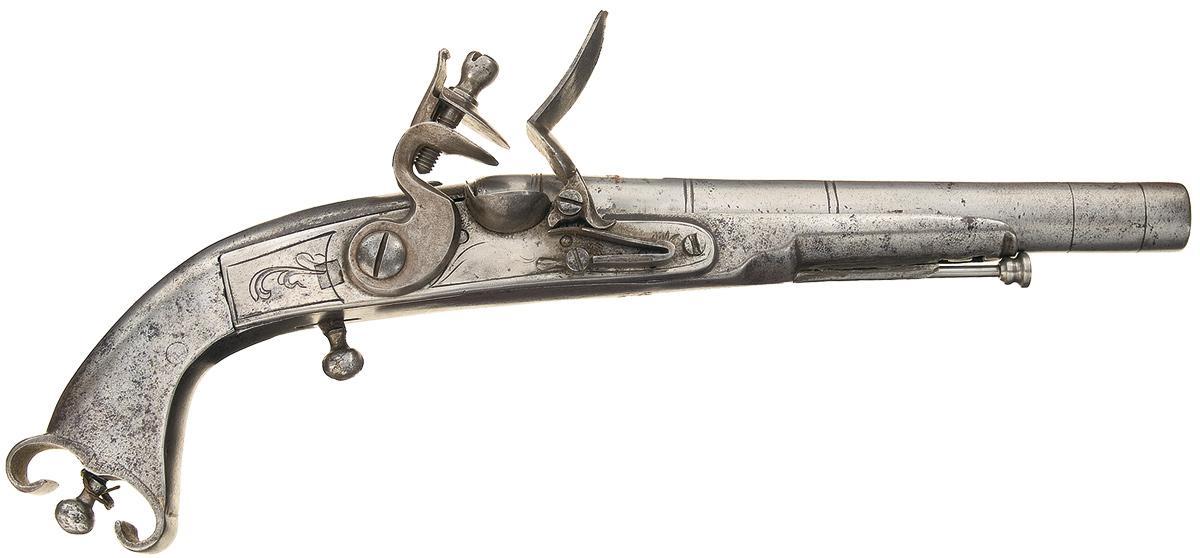 1200x558 Scottish All Steel Flintlock Pistol