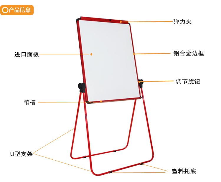 750x620 U Shape Flip Chart Drawing Board