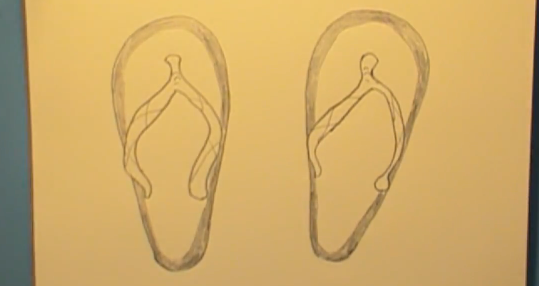 539x286 How To Draw Flip Flops Step By Step How To Draw Faster