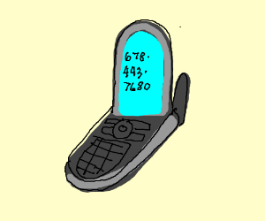 300x250 A Flip Phone (Drawing By Warthogking)