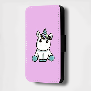 300x300 Adorable Unicorn Drawing Purple Flip Phone Case Cover Wallet Card