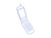 200x150 Flip Phone Drawing