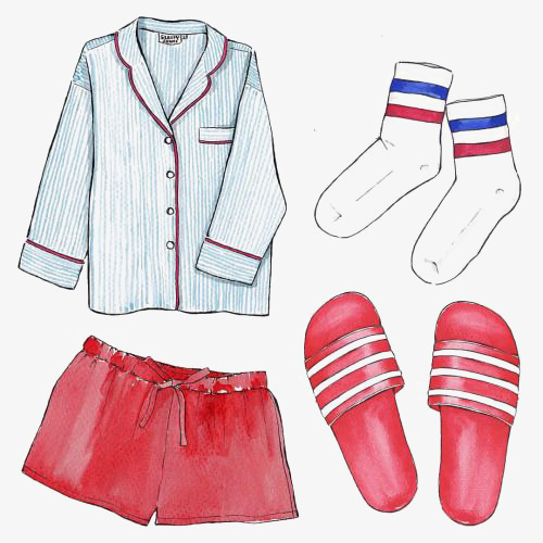 500x500 Home Match, Drawing Pajamas, Shorts, Flip Flop Png Image