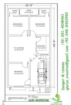236x346 25x45 House Plan, Elevation, 3d View, 3d Elevation, House