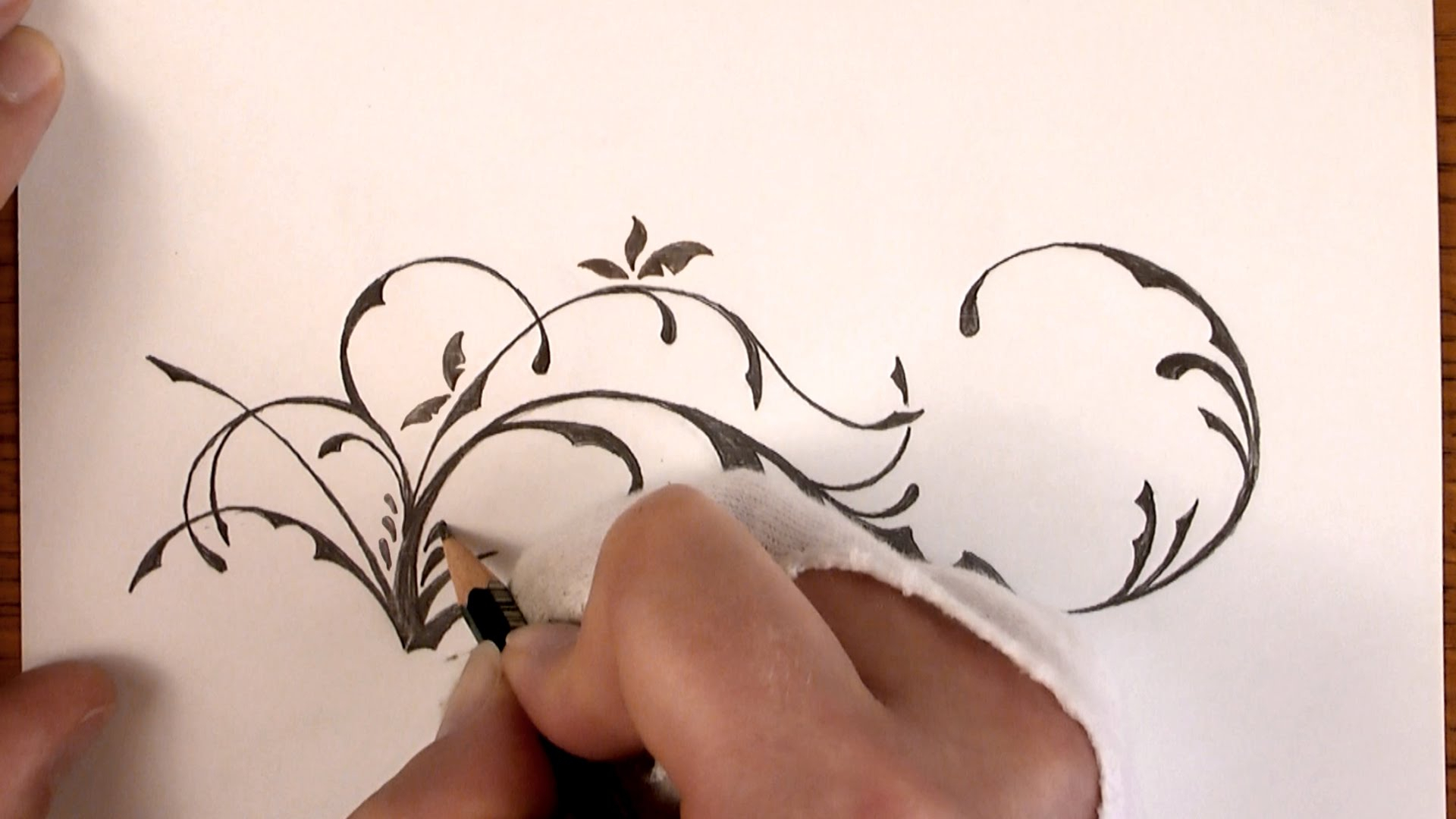 1920x1080 Simple Flower Designs Pencil Drawing Drawing Time Lapse A Simple
