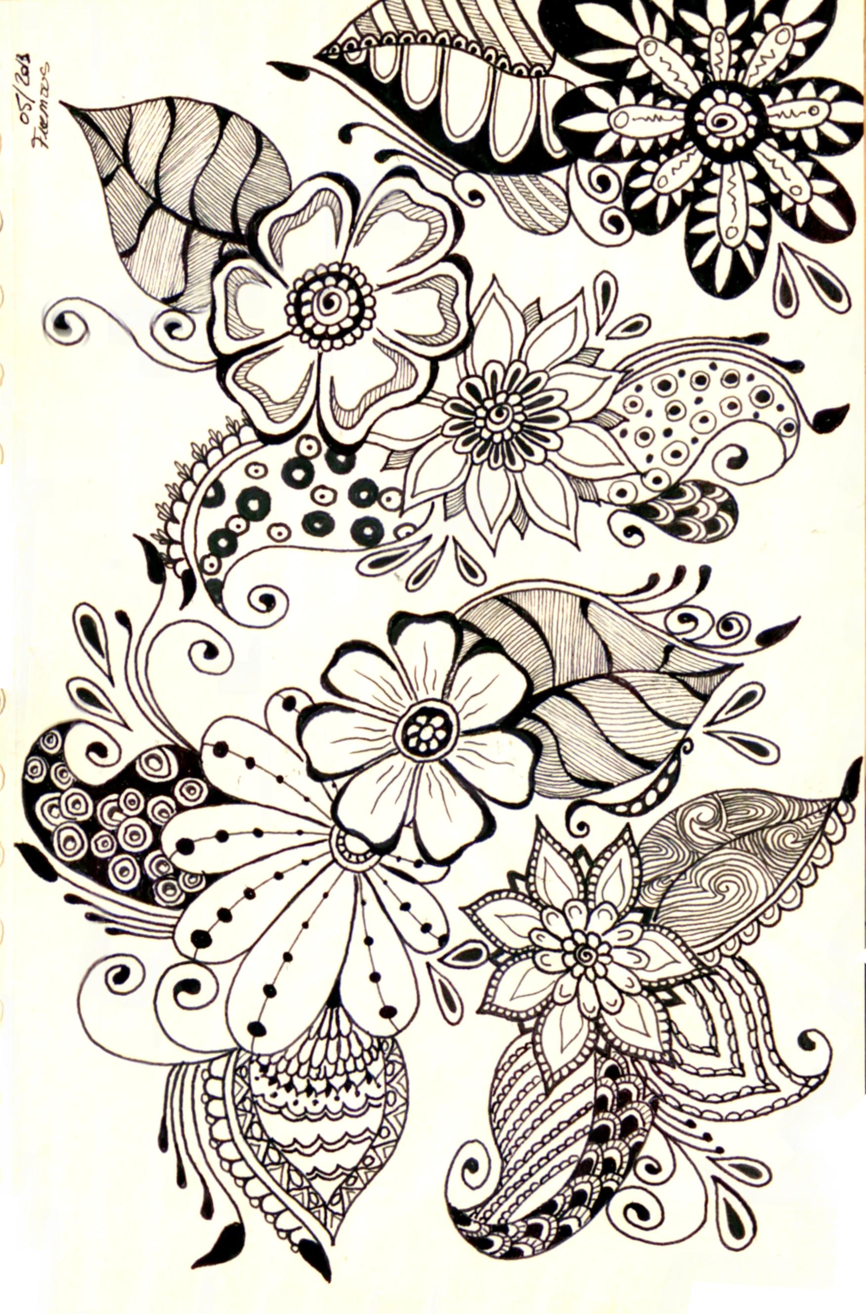 1752x2658 Floral Designs Doodle How To Flowers Doodles