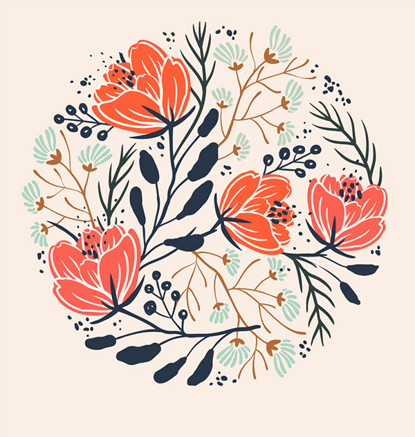 600x632 Florals On Behance